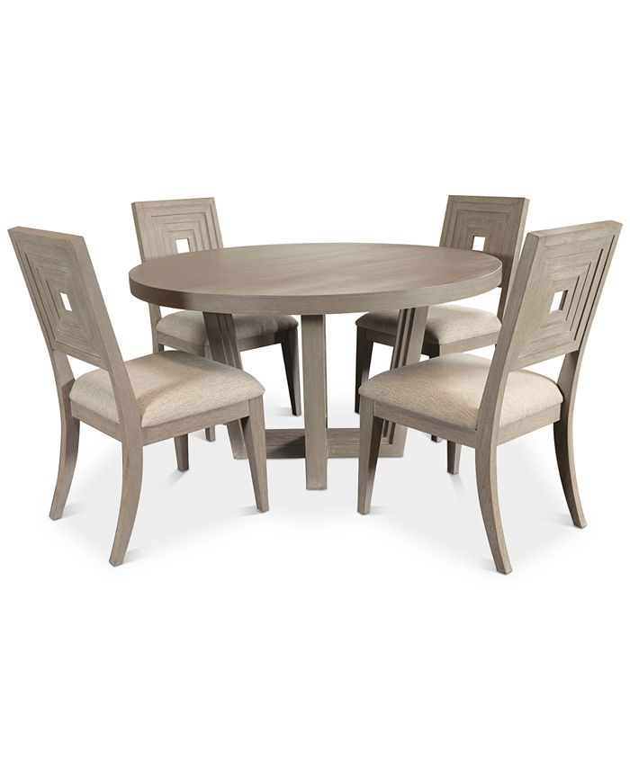 Furniture Modern Coastal Dining Furniture 5 Pc Set Table 4 Side Chairs Reviews Furniture Macy S