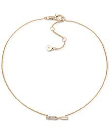 """Gold-Tone Pavé Twist Pendant Necklace, 16"""" + 3"""" extender"""