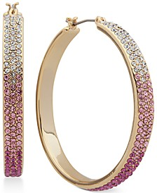 Medium Pavé Flat Hoop Earrings, 1-7/10""