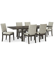Parker Mocha Dining 7-Pc Set (Table & 6 Side Chairs), Created for Macy's