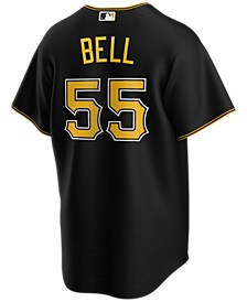 Men's Josh Bell Pittsburgh Pirates Official Player Replica Jersey