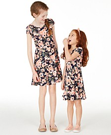 Little & Big Girls Floral-Print Dress Separates, Created for Macy's