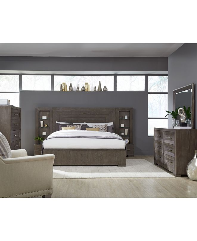 furniture facets pier wall unit bedroom collection
