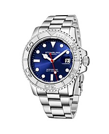 Men's Silver Tone Stainless Steel Bracelet Watch 42mm