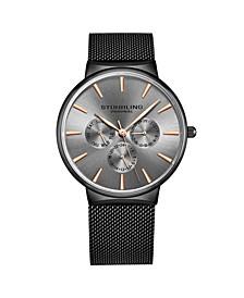 Men's Gray Mesh Stainless Steel Bracelet Watch 39mm