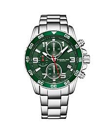Men's Silver Tone Stainless Steel Bracelet Watch 40mm