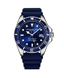 Men's Blue Silicone Rubber Strap Watch 42mm