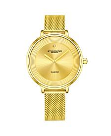 Women's Gold Tone Mesh Stainless Steel Bracelet Watch 37mm