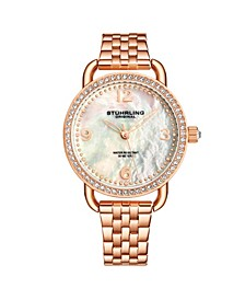 Women's Rose Gold Stainless Steel Bracelet Watch 38mm
