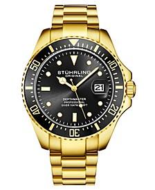 Men's Gold Tone Stainless Steel Bracelet Watch 42mm