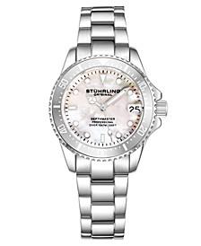 Women's Silver Tone Stainless Steel Bracelet Watch 32mm