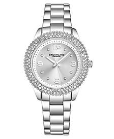 Women's Silver Tone Stainless Steel Bracelet Watch 38mm
