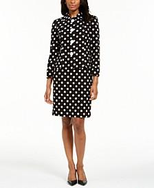 Polka-Dot Dress & Jacket
