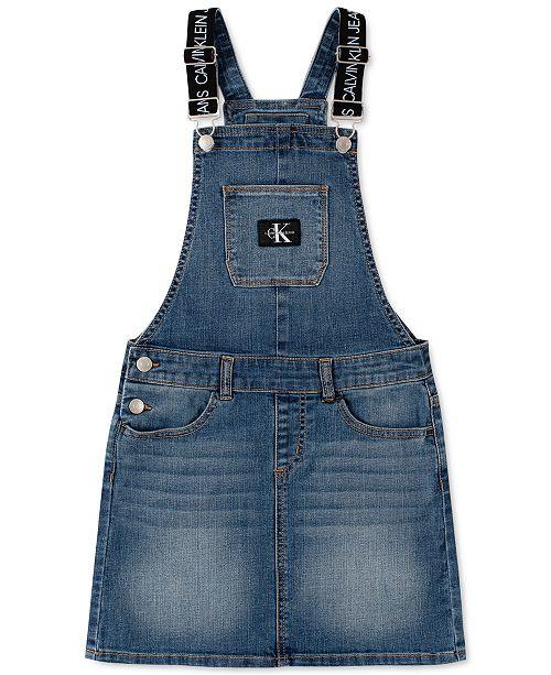 Calvin Klein Big Girls Denim Skirtall