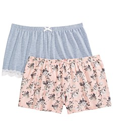 Olri 2pk Pajama Shorts