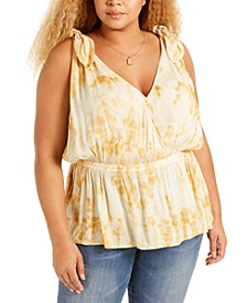 Trendy Plus Size Peplum Tank Top