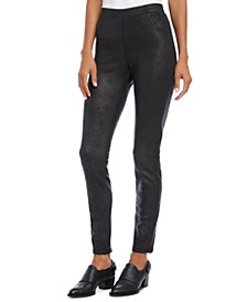 Stretch Faux Leather Pants