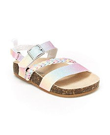 B'Gosh Toddler Girls Faith Fashion Sandal