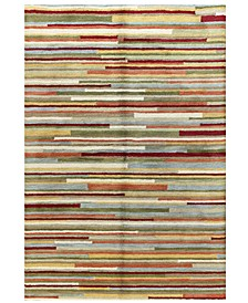 Bashian Area Rug, Belleport Ligne Multi 5' x 7'6""