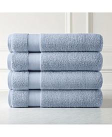 Premium Quality 100% Combed Cotton Towel Set, 4 Piece