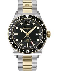 Men's Swiss 1898 Sport GMT Two-Tone Stainless Steel Bracelet Watch 44mm