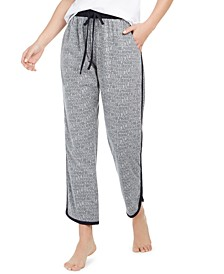 Printed Contrast-Trim Sleep Pants