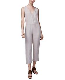 Linen Relaxed Sleeveless Jumpsuit