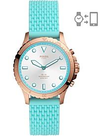 Women's FB-01 Hybrid Blue Silicone Strap Smart Watch 36mm