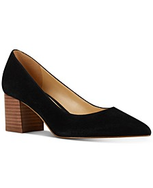 Tves Block-Heel Pumps