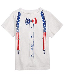 Toddler Boys Patriotic Bowtie T-Shirt, Created for Macy's