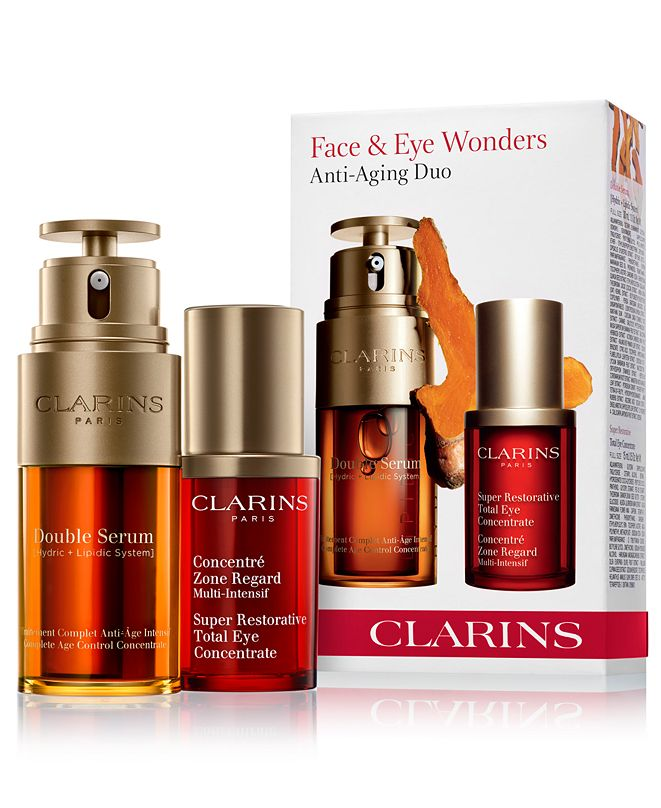 Clarins 2-Pc. Double Serum & Total Eye Concentrate Set ...