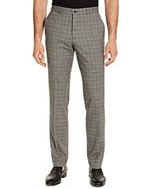 Armani Exchange Men's Modern-Fit Tan Glen Plaid Suit Pants, Created for Macy's
