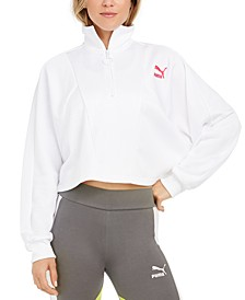 Cropped Half-Zip Top