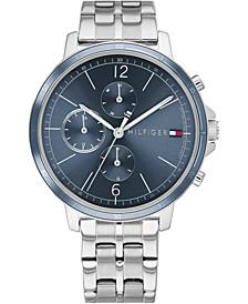 Women's Chronograph Stainless Steel Bracelet Watch 38mm