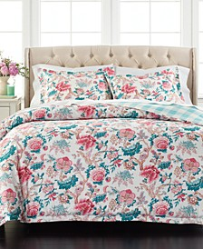 Percale Jacobean Reversible 3-Pc. Full/Queen Comforter Set, Created for Macy's