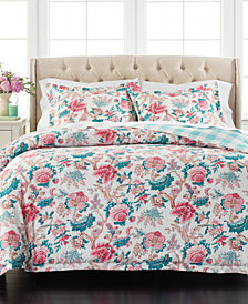 Martha Stewart Collection Percale Jacobean Reversible 3-Pc. King Comforter Set, Created for Macy's