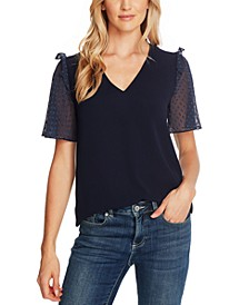 Clip-Dot-Sleeve Top