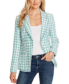 CeCe Plaid Tweed Jacket