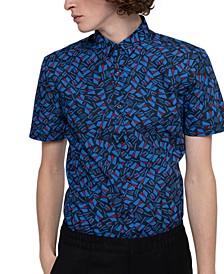 Boss Men's Extra Slim-Fit Geometric Shirt