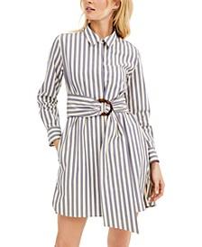 Striped Poplin Shirtdress