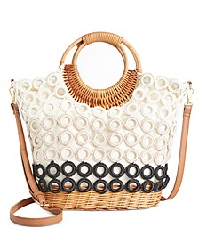 INC Crochet Circles Wicker Crossbody, Created for Macy's