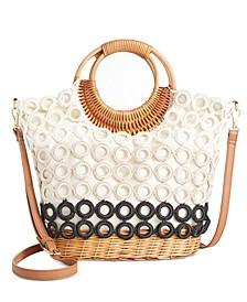 INC Crochet Circles Wicker Crossbody, Created for Macy's