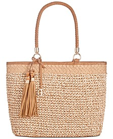 Marled Straw Tote, Created for Macy's