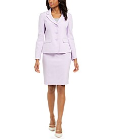 3-Button Jacket Skirt Suit