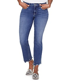 Marilyn Frayed Tummy-Control Ankle Jeans