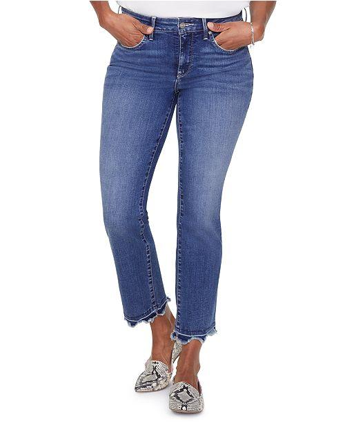 NYDJ Marilyn Frayed Tummy-Control Ankle Jeans