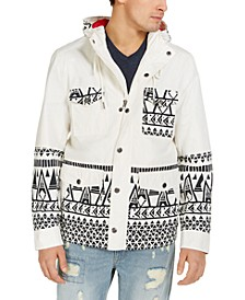 Men's Topanga Tribal Patterned Hooded Jacket, Created for Macy's