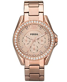 Women's Riley Rose Gold Plated Stainless Steel Bracelet Watch 38mm ES2811