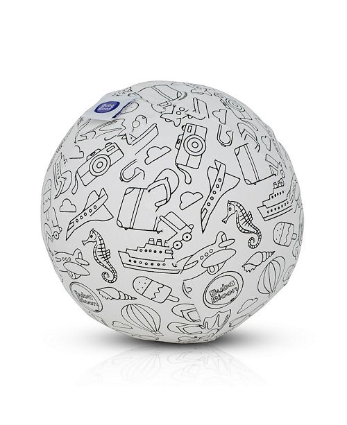 BubaBloon Color in Travel Design Cotton Balloon Cover With Washable Markers