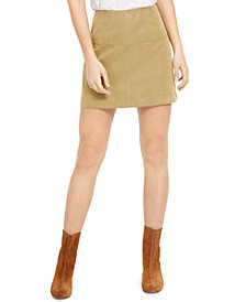 Free People Days In The Sun Suede Mini Skirt